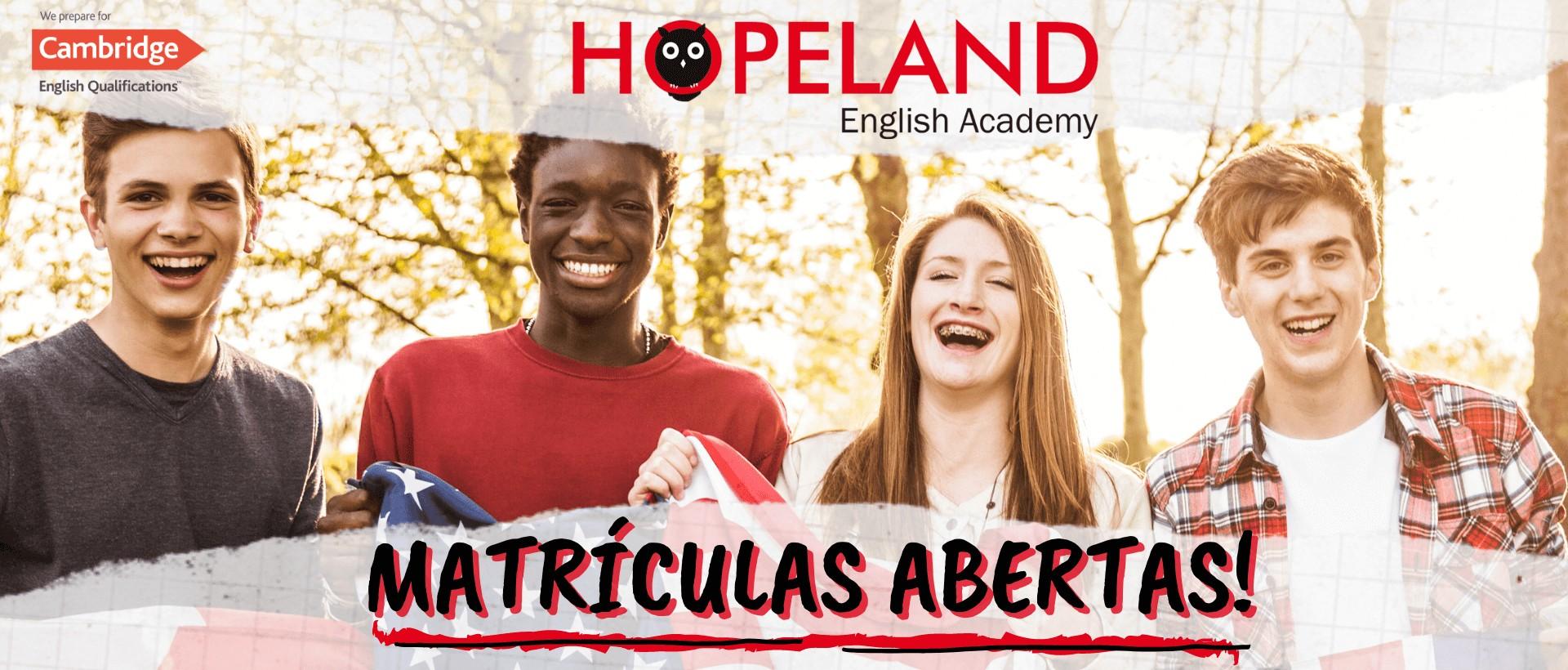 Matrícula Escola de Inglês - Hopeland